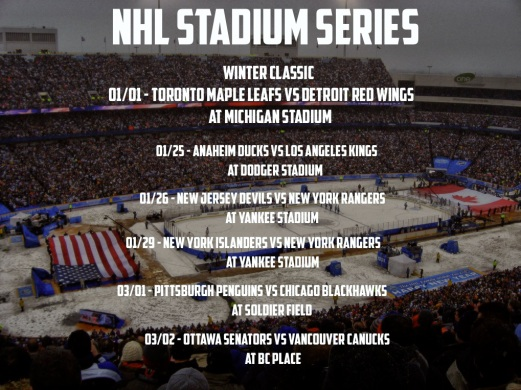 Stadium Series Schedule